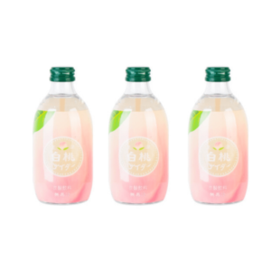 碳酸果汁(玻璃樽)300ML 白桃味