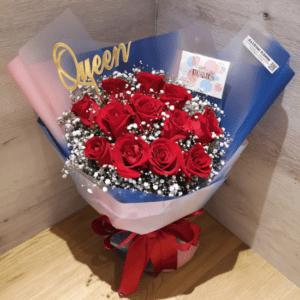12朵玫瑰花束
