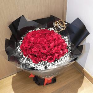 50朵玫瑰花束