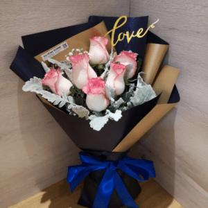 6朵玫瑰花束