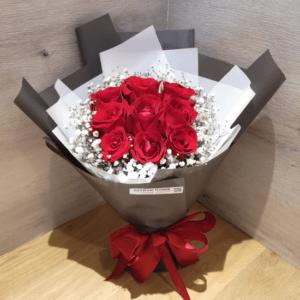 9朵玫瑰花束